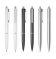 Set of pens vector image