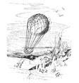 balloon fish ride vintage vector image
