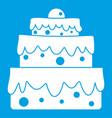 big cake icon white vector image