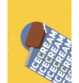 chocolate popsicle vector image