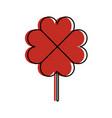 clover poker symbol icon vector image