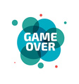 GAME OVER banner GAME OVER lettering vector image