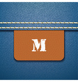 M size clothing label - vector image