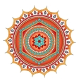 mandala circle ornament vector image