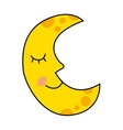 moon character drawn icon vector image