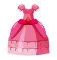 princess dress icon cartoon style vector image