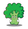 smile broccoli chracter cartoon style vector image
