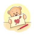 Teddy Bear with drawing heart vector image