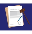 Legal concept of immigration law vector image