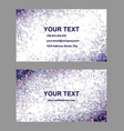 Purple triangle mosaic business card design vector image