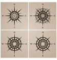 set of compass roses or windroses vector image