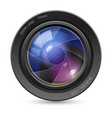 camera icon lens on white background vector image vector image