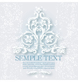Vintage baroque elements vector image