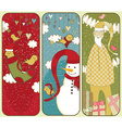Set Of Colorful Christmas Banners vector image vector image