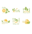 Set of Organic and Natural Food Labels vector image
