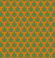 Green papaya leaf pattern in orange background vector image vector image