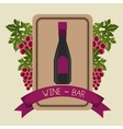Wine and bar graphic vector image