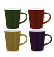 collection of four mugs vector image