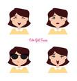 girl expression faces vector image