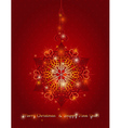red background with big snowflake vector image