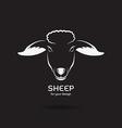 Sheep head design vector image