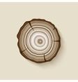 tree rings symbol vector image