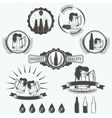Vintage beer brewery emblems labels and design vector image