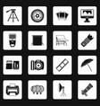 photo studio icons set squares vector image
