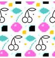 fun cherry seamless pattern vector image