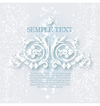 White ornament for design vector image