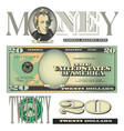 money 20 Dollars vector image vector image