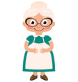 Grandmother housewife vector image vector image