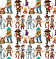 Men in different costume vector image