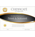 certificate or diploma retro template 04 vector image