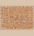 comic speech bubble doodle icon hand drawn vector image