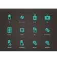 Pills and capsules icons vector image