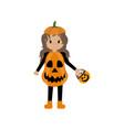 pumpkin halloween costume vector image
