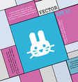 Rabbit icon sign Modern flat style for your design vector image