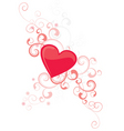 red vector heart with flourishes vector image