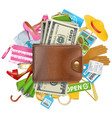 Shopping Concept with Wallet vector image