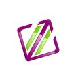 Square arrow technology color logo vector image