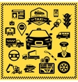 Taxi Decorative Icons Set vector image