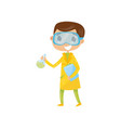teen boy interested in becoming famous chemist vector image