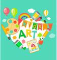 Themed Kids art poster vector image