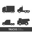 truck deign vector image