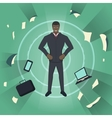 Business theme Young black businessman vector image