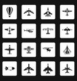 aviation icons set squares vector image