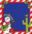 mexican Christmas card vector image