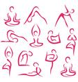 yoga big set vector image vector image
