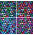 bright gem triangle pattern set vector image